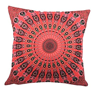 Bluester Colorful Print Pillow Case Sofa Waist Throw Cushion Two-Side Cover Home Decor Pillowcase produced by Bluester - quick delivery from UK.