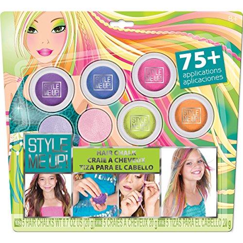 STYLE ME UP! 01629 - Haarschmuck - auswaschbare Haarkreide, 5-farbig (Pferde-bücher Für Mädchen 9 12)