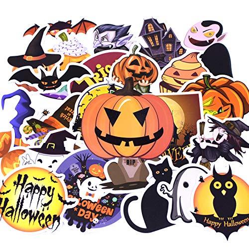 Inveroo 25pcs/Pack Fashion Halloween Tag Graffiti Aufkleber Kind Spielzeug Aufkleber Für DIY Gepäck Laptop Skateboard Moto Auto Wasserdicht Aufkleber