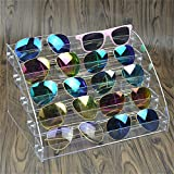 MineDecor Acryl Sonnenbrille Organizer Clear Brillen Display Case Eyewear, Box für Brille Tischplatte Halter Ständer One Size 5 Layer