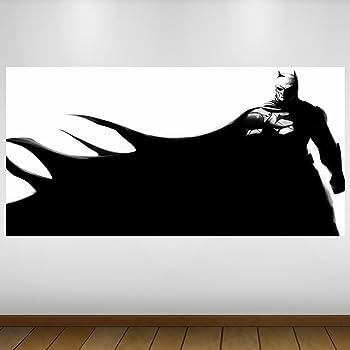 EXTRA GRANDE Batman astratta Vinyl- Decalcomania Gigante da Parete - Adesivo a Base di Colla Vinilica - Quadri con Finestre - Adesivi da Parete - Vinile di Arte Murale - Quadri per Muro - Poster Giganti -140cm x 70cm