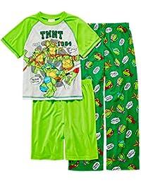 Tortugas Ninja niños 3piezas Juego de pijama tamaños 4–12