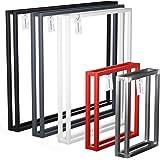 HOLZBRINK Pied de table basse, table à manger et bureau 30x43 cm (larg. x haut.), Noir, 1 pièce, HLT-18-L-AA-9005