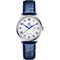 SK Orologi da donna Classic Business con cinturino in acciaio inossidabile ed elegante orologio da donna con calendario…