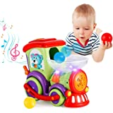 VATOS Giocattoli Bambino Treno per 1 2 3 4 Anni Ragazzi e Ragazze Giocattoli per Bambini con Palle a Caccia, Luce, Conversazi