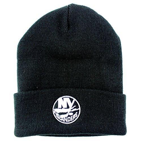 American Needle New York Islanders NHL Basic Beanie Cuffed Knit Hat Schwarz