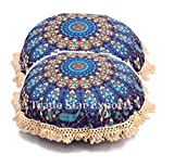 #9: Fringes Lace Multicolor Cushion Cushion Cover Round Cotton Sofa Pillow Decorative Sham 16