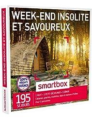 Smartbox - Coffret Cadeau - Week-End Insolite et Savoureux - 195 Sjours : Cabanes, Yourtes, Roulottes, Tipis, Chteaux, Maisons D'Htes