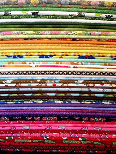 50x FQ sortierte Mega Pack mehrfarbig Quilting Stoff-100% Baumwolle-45,7x 55,9cm Zoll-Fat Quarter Bundle -