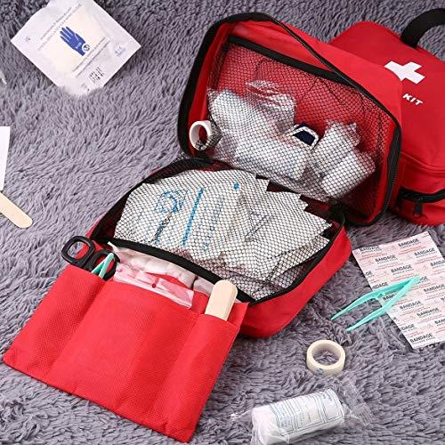 JohnJohnsen Trousse de Premiers Soins Sac en Plein air à la Maison d'urgence médicale Kit Survie Sac Vide Multifonctionnel médical Sac à Main pour Camping Voyage