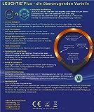 Leuchthalsband LEUCHTIE Plus blau Größe 50 neues Verschlusssystem - 6