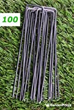 GardenPrime 100x 2.8mm Premium U-shaped Garden Securing Pegs for securing weed fabric, netting, fleece, groundsheets, landscape fabrics, polythene sheeting (100)