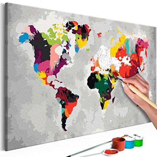 Murando Dipingere Con I Numeri 20 Immagini Mappa Del Mondo Con