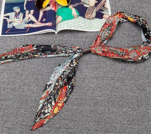 GTD Schal, Frühlingsherbst, kleiner Schal, kleiner Platz, faltig, kleiner Schal, 150 * 35 (Anzug Orange Männchen)