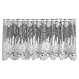 Heritage Lace Pinecone 60-inch Wide by 30-inch Drop Tier, White