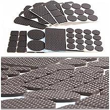 Muebles almohadillas, HiChange Self-Stick Muebles Pies piso patas protector de la silla para evitar arañazos y Slippery Pack de 6, 68-piezas, 4 tipos