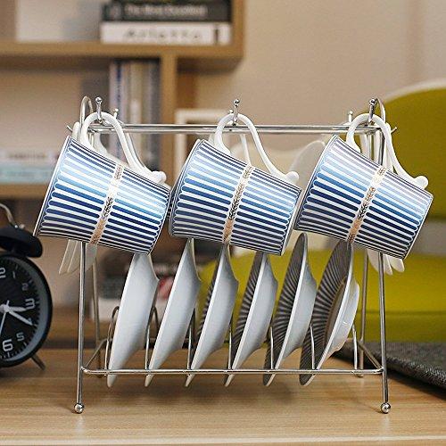 Céramique Créative Tasse de Café Set / 6 Set / Single Set / Gift Set / (2 couleurs en option) ( couleur : B )