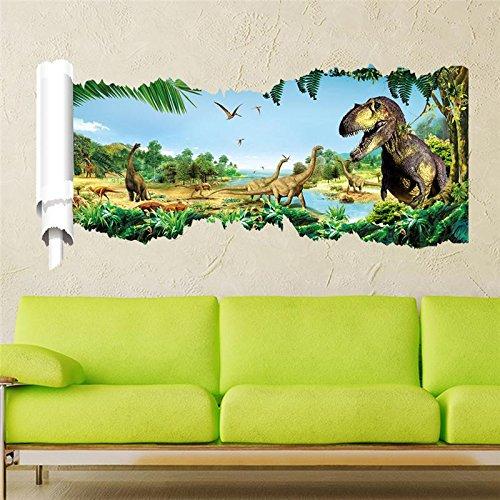 Preisvergleich Produktbild begly (TM) 3D Dinosaurier Wand Aufkleber JURASSIC PARK Home Dekoration 1460. DIY Cartoon Wohnzimmer Tiere Print Aufkleber Wandbild Art Poster 5, 5