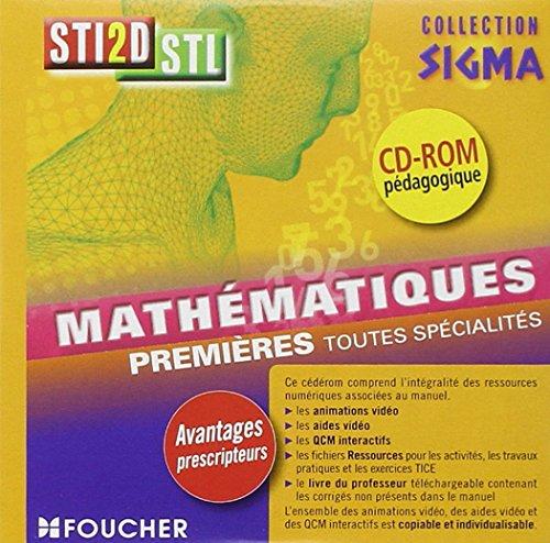Sigma Mathématiques 1re Bac STI2D - STL CD-ROM