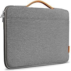 Inateck Sleeve Case Custodia protettiva per per Laptop 14-14,1 pollici pratica e casual, Ventiquattrore per ThinkPad 14'', Dell Inspiron, Toshiba Satellite, HP Chromebook 14, ASUS, con Manici e Chiusura delle Cerniere, grigio