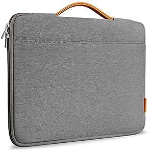 Inateck Sleeve Protettiva per MacBook Pro 15 pollici. Borsa per Laptop moderna con Manici e Chiusura a cerniera - Dimensioni esterne 39 x 27,5 centimetri - Colore grigio