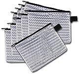 Rexel AZ1300260 Mesh Bag Reissverschlusstasche A4, Transparentes Material Inhalt ist leicht sichtbar, schwarz