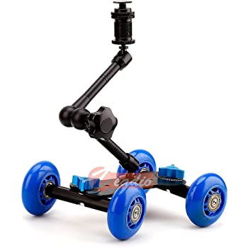Black Neewer Noise-Free Camera Table Dolly Slider with 22 pounds//10 kilograms Load Capacity Skater Design Aluminum Board Rotatable TPU Wheels 1//4-inch Screw Threads for DSLRs Video Camcorders