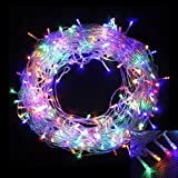 Yizhou 30m 200LED Multi Color Fairy String Lights with UK Plug, Best Decoration for Christmas Tree, Halloween Illuminations ,Wedding party, Home or Garden Decorations