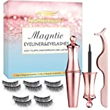 3D Magnetico Ciglia Riutilizzabili,Ciglia Magnetiche con Eyeliner Magnetico Kit,Escalation Ciglia Finte Magnetiche e Set Di E