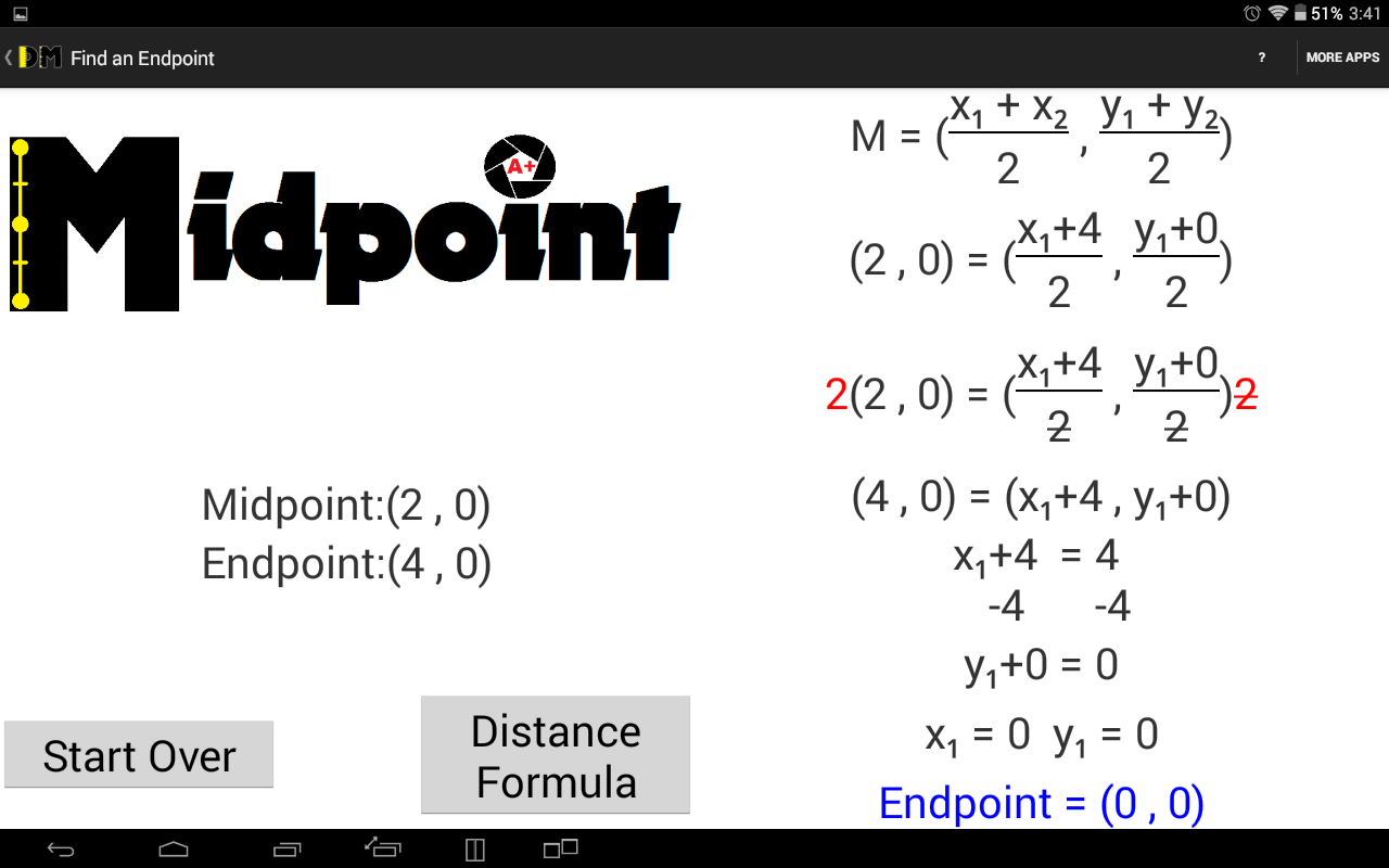 Distance and Midpoint Formula: Amazon co uk: Appstore for