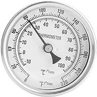 """Duokon Thermomètre de Brassage de bière Kit de thermomètre bimétallique sans Soudure 1/2""""MNPT 0~220F pour bière et vin…"""