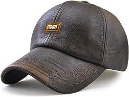 Wicemoon Gorra de Béisbol para Hombre Sombrero de Cuero Suave de PU Sombrero Deportivo Al Aire Libre Otoño Invierno 56-60cm
