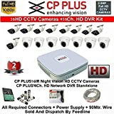 CP PLUS 16-CHANNEL DVR KIT WITH 2-TB HARD DISK , 9-PC 2.4MP DOME CAMERA , 7-PC 2.4MP BULLET CAMERA, 16-CH POWER SUPPLY ,WITH BNC/DC CONNECTORS & WIRE ROLL COMBO PACK.(Sold and Dispatch by Feedline)