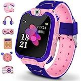 Winnes Reloj Inteligente para Niños, Niña La Musica y 7 Juegos Smart Watch Phone, 2 Vías Llamada Despertador de Cámara para R