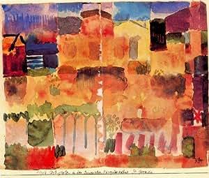 Peinture a l'huile - 24 x 20 inches / 61 x 51 CM - Paul Klee - Un jardin pour Orphée 1