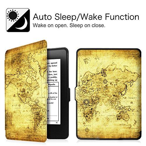 Fintie Etui Kindle Paperwhite - étui Cover Flip super fin et léger, fermeture magnétique avec mise en veille automatique pour Amazon All-New Kindle Paperwhite (Convient à touts les versions: 2012, 201 Z -Ancient Map