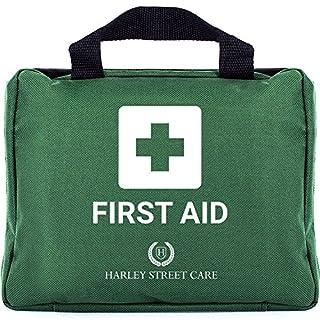 103 Teile Harley Street Care professionelle Erste Hilfe/ Notfallkasten. Umfassendes, hochwertiges, kompaktes & haltbares Erste-Hilfe-Set für Arbeitsschutz – enthält unter anderem eine Augendusche, 2 Kühlpacks, eine Notfalldecke für zu Hause, das Auto, auf der Arbeit & auf Reisen