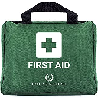 103 Pieces Harley Street Care Professional First Aid/Emergency Kit. Comprehensive, Compact & Durable for Health & Safety, Includes Eye Wash, Cold Packs, Emergency Blanket for Home, Car, Work, Travel 1