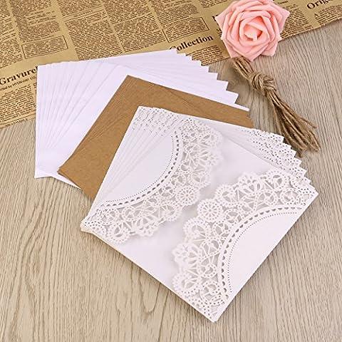 Wedding Invitation Card Greeting Card Congratulation Card for England Style 10Pcs