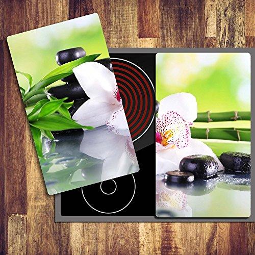 stein-2-set-glas-abdeckplatte-2x30x52-schneidebrett-herdabdeckplatte