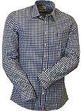 Trachtenhemd Slimline in blau von Almsach, Größe:XL, Farbe:Blau
