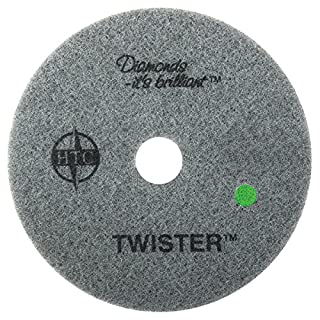 Americo Manufacturing Americo 435524 Twister Green (3,000 Grit) Floor Pad for Step 3: Polishing and Daiy Maintenance, 24-inch, 2 per Pack (Made in USA)