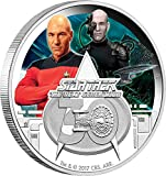 STAR TREK Next Generation 30th Anniversary 1 Oz Silber Münze 1$ Tuvalu 2017