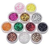 TOBbeauty 16 Mixed Maquillage Couleur Eye Shadow Pigment Poudre Glitter Mineralspangle Eyeshadow Makeup éclaircit la couleur aléatoire Maquiagem