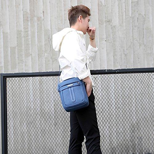Outreo Umhängetasche Reisen Kuriertasche Vintage Taschen Retro Schultertasche Herren Herrentaschen für Reisen Messenger Bag Lila