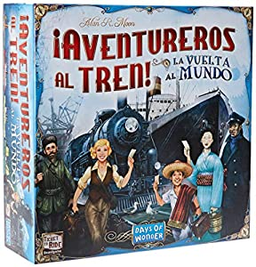 Days of Wonder-¡ ¡ Aventureros Al Tren-La Vuelta Al Mundo - Español, Color (Edge DW720826)