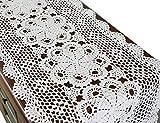 Manteles Individuales rectangulares de Encaje de Ganchillo 100% Hechos a Mano, algodón, Blanco,...