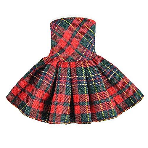 Bekleidung Kleidung für Elf on the Shelf(Die Puppe Ist Nicht Enthalten) (Rot - Grün Karierten Kleid) (Mädchen, Elf Auf Dem Regal Kleidung)
