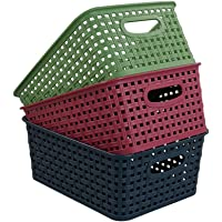 Ponpong Paniers de Rangement Colorés en Plastique pour Ratten, Lot de 6