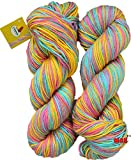 #4: Vardhman Flaura 100% Acrylic Wool Multi Berry 200 gm (2 pc)